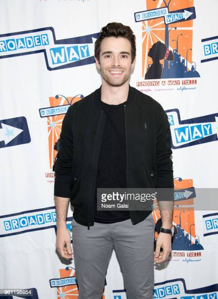 Corey Cott attends the Camp BroaderWay Karaoke Benefit Concert at PlayStation Theater on May 21 2018 in New York City