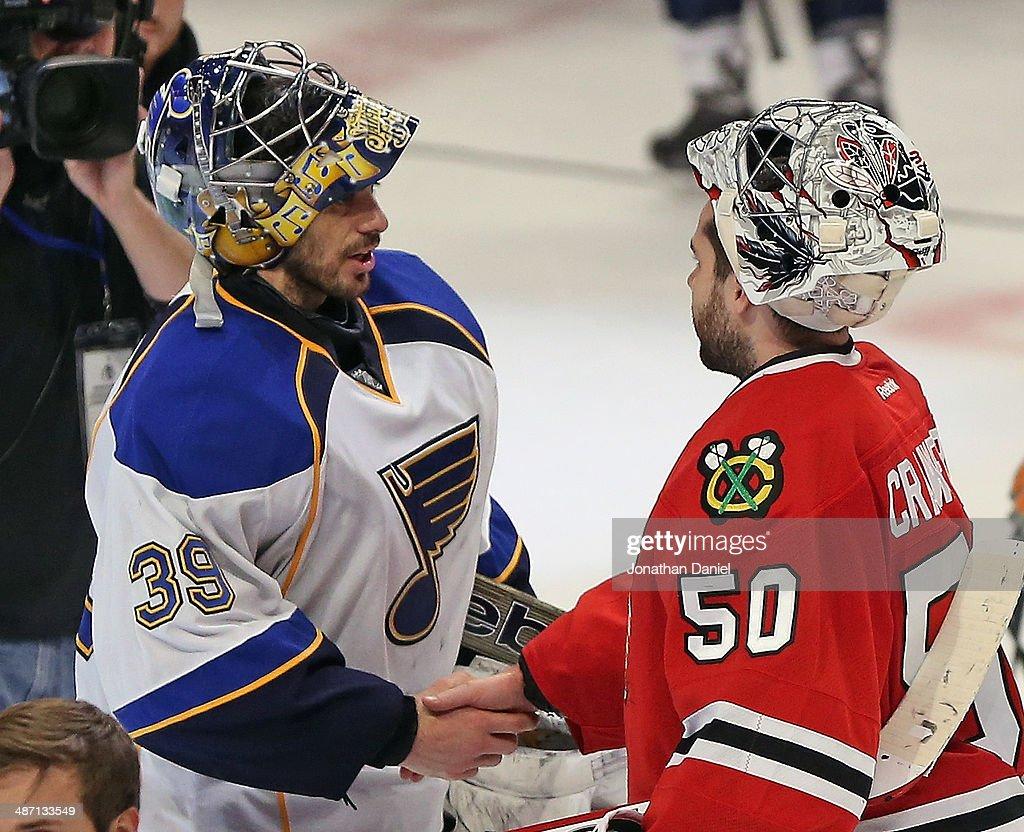 St. Louis Blues v Chicago Blackhawks - Game Six : News Photo