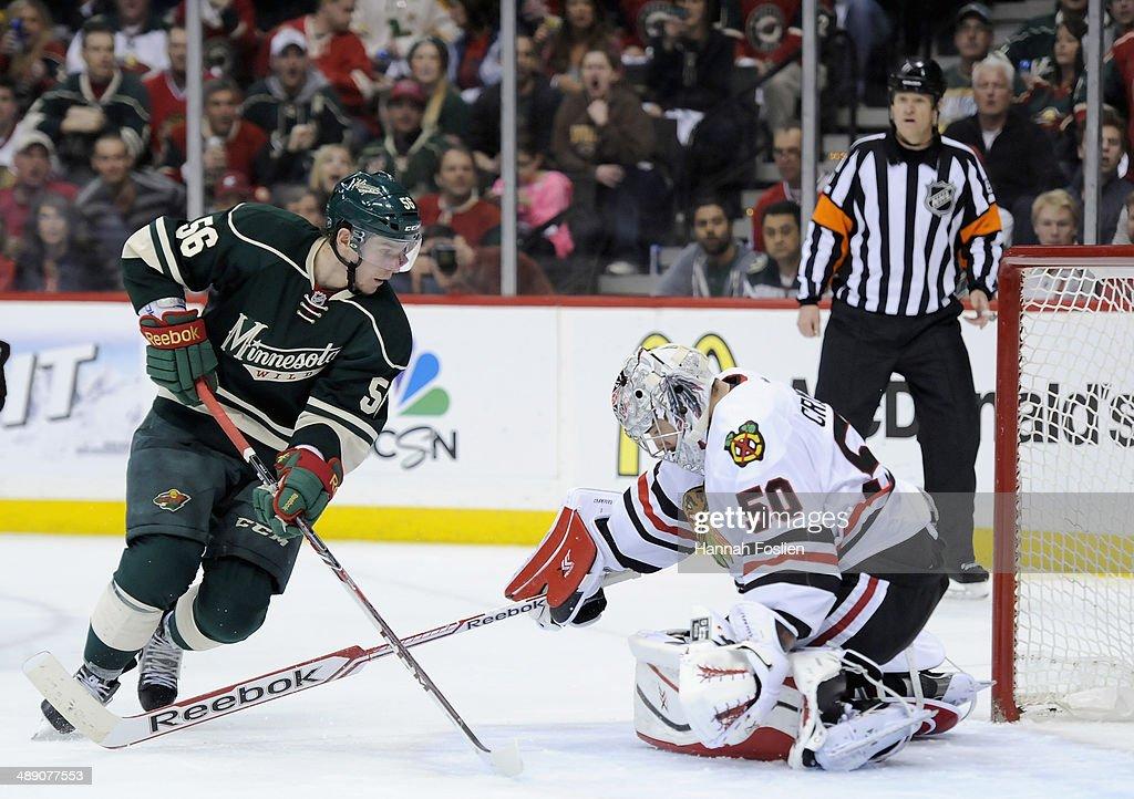 Chicago Blackhawks v Minnesota Wild - Game Four : News Photo