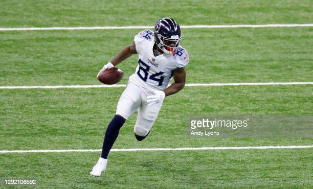 Corey Davis of the Tennessee Titans runs the ball against the Indianapolis Colts at Lucas Oil Stadium on November 29, 2020 in Indianapolis, Indiana.