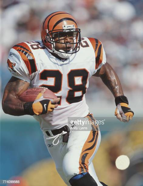 Corey Dillon Running Back for the Cincinnati Bengals during the American Football Conference Central game against the Jacksonville Jaguars on 11...