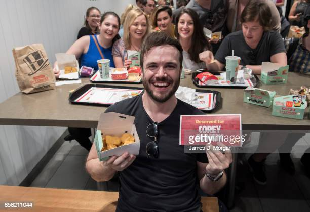 Corey Dunkin enjoys some McNuggets at McDonald's George St on October 6 2017 in Sydney Australia The McNugget fan's post on social media quickly went...
