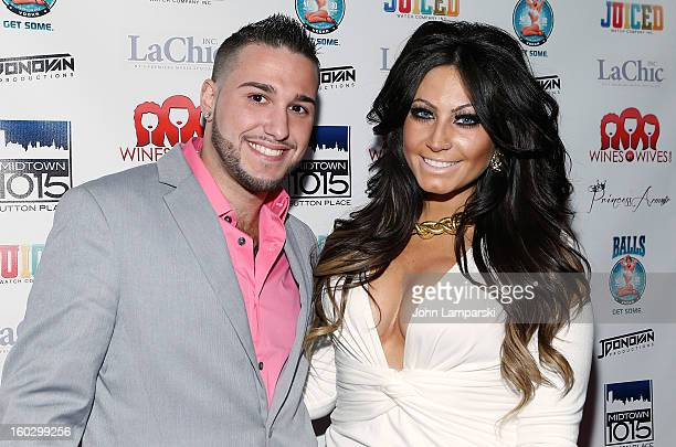 Corey Eps and Tracy Dimarco attends Jerseylicious Season 5 Premiere Party at Midtown Sutton on January 28 2013 in New York City