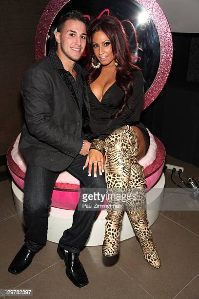 Corey Epstein and Tracy DiMarco attend the Glam Fairy premiere at the Gansevoort Park Avenue on October 20 2011 in New York City
