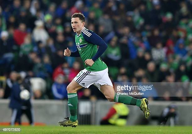 Corey Evans of Northern Ireland pictured during the international football friendly between Northern Ireland and Latvia at Windsor Park on November...