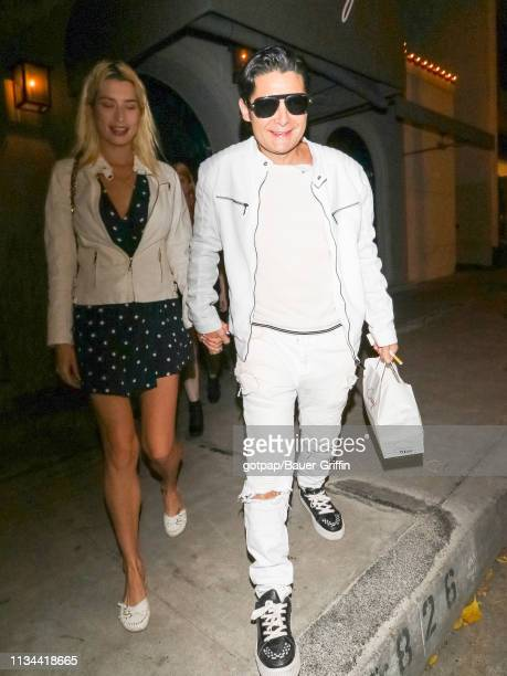 Corey Feldman and Courtney Anne Mitchell are seen on April 01 2019 in Los Angeles California