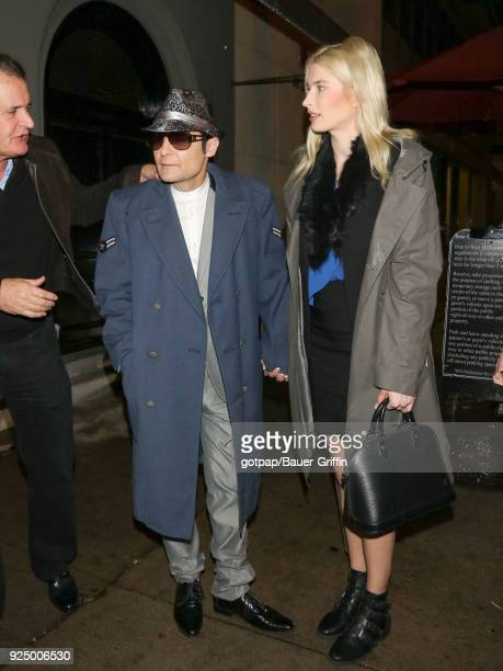 Corey Feldman and Courtney Anne Mitchell are seen on February 26 2018 in Los Angeles California