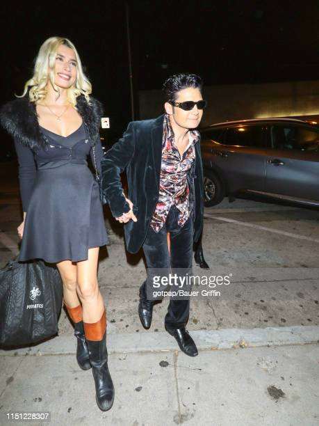 Corey Feldman and Courtney Anne Mitchell are seen on June 20 2019 in Los Angeles California