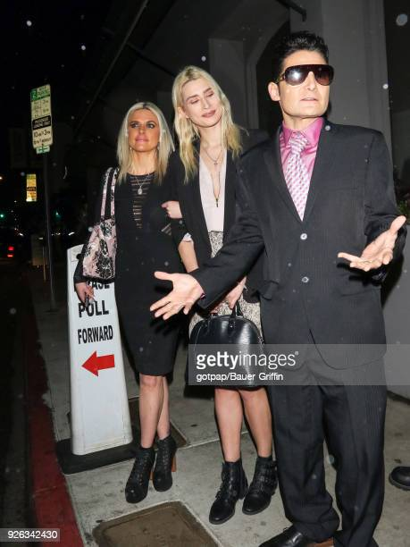 Corey Feldman and Courtney Anne Mitchell are seen on March 02 2018 in Los Angeles California