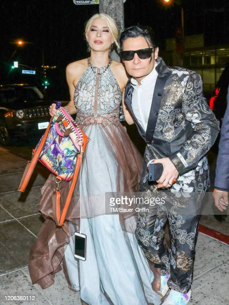 Corey Feldman and Courtney Anne Mitchell are seen on March 10 2020 in Los Angeles California