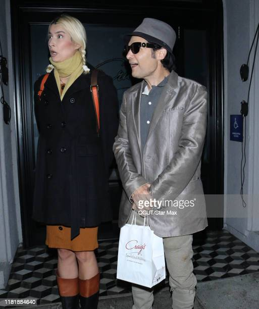 Corey Feldman and Courtney Anne Mitchell are seen on November 11 2019 in Los Angeles California