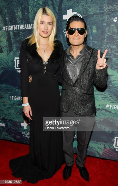 Corey Feldman and Courtney Anne Mitchell attend the PUBG Mobile's #FIGHT4THEAMAZON Event at Avalon Hollywood on December 09, 2019 in Los Angeles,...