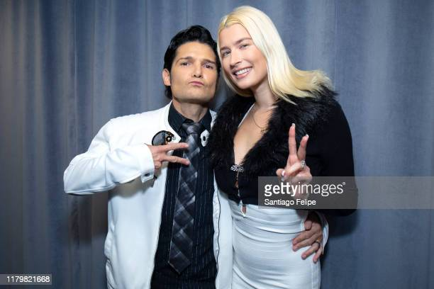 Corey Feldman and Courtney Anne Mitchell visit SiriusXM Studios on October 08, 2019 in New York City.