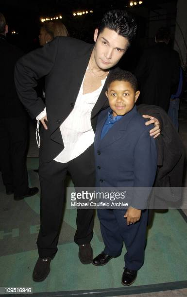 Corey Feldman and Emmanuel Lewis during The WB Network AllStar Celebration AfterParty at The Highlands in Hollywood California United States