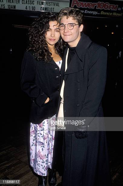 Corey Feldman and Fiancee Vanessa Marcil during Corey Feldman and Family at Cineplex Odeon Theater - March 30, 1990 at Beverly Center Cineplex Odeion...