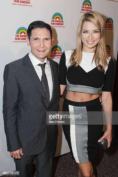 Corey Feldman and guest attend the premiere of 'The M Word' at DGA Theater on April 2 2014 in Los Angeles California