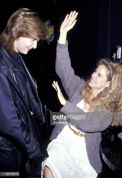 Corey Feldman and Kelly Preston during 1987 Young Artist Group at Comedy Store in Los Angeles California United States
