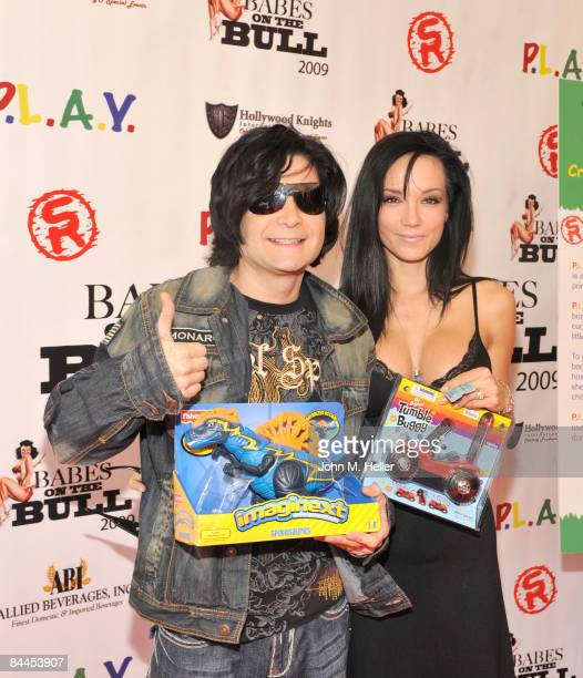 Corey Feldman and Susie Feldman attend the Babes On The Bull Benefiting PLAY at the Saddle Ranch Chop House on January 25 2009 in Hollywood California