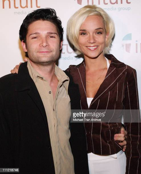 Corey Feldman and Susie Feldman during Intuit Media Group Launch Party at The Little Door in Los Angeles California United States