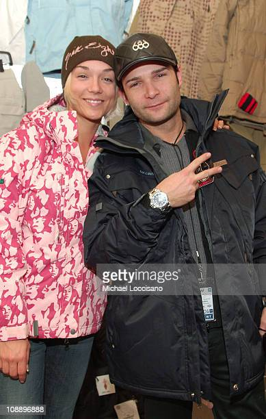 Corey Feldman and Susie Feldman in 686 suite during Fuel TV Chalet at Sundance and XDance 2006 Day 6 at Woodside in Park City Utah United States
