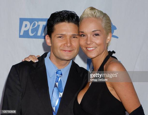 Corey Feldman and Susie Sprague during PETA's 25th Anniversary Gala and Humanitarian Awards Show Arrivals at Paramount Studios in Hollywood...