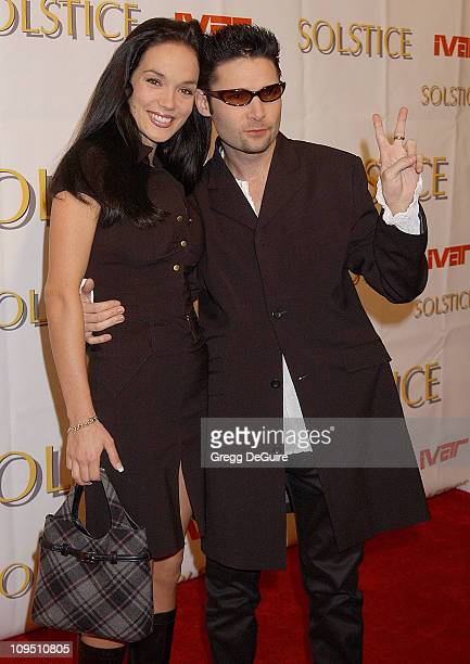 Corey Feldman and wife Susie during Safilo USA Hosts CelebrityStudded Spring 2003 Designer Sunglass Fashion Show Extravaganza and Launch Party for...