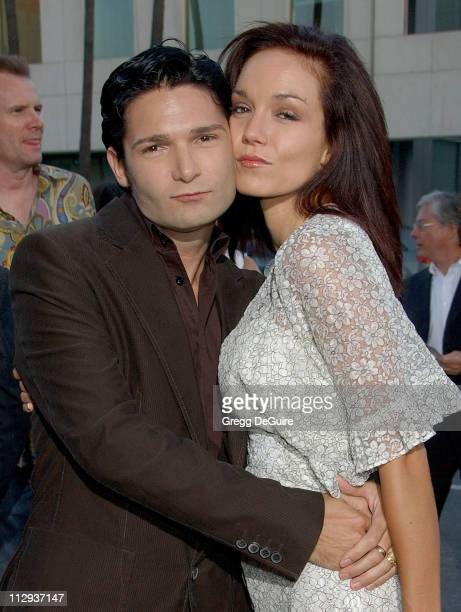 Corey Feldman and wife Susie during Sicko Los Angeles Premiere Arrivals at Academy Theatre in Beverly Hills California United States