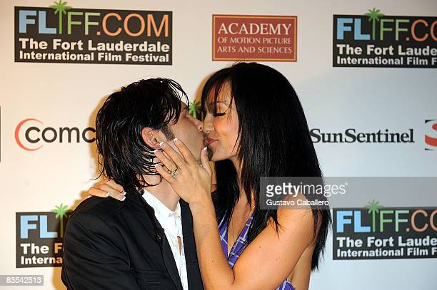 Corey Feldman and wife Susie Feldman arrive at the screening of their film Terror Inside at the 2008 Fort Lauderdale International Film Festival at...