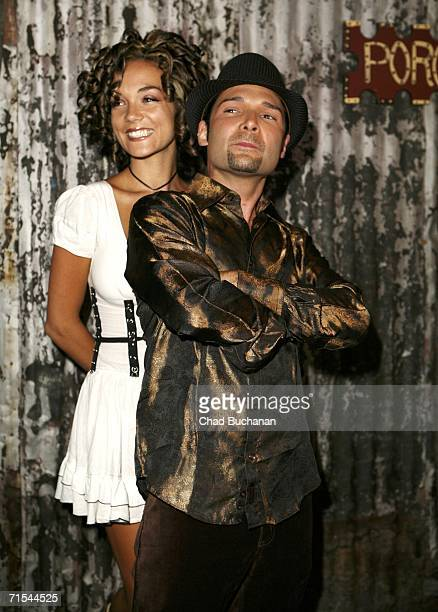 Corey Feldman and wife Susie Feldman attend Corey's 35th birthday bash at the House of Blues July 30 2006 in West Hollywood California