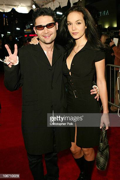 Corey Feldman and wife Susie Sprague during SOLSTICE Hosts CelebrityStudded Spring 2003 Designer Fashion Show Extravaganza Launch Party at Ivar in...