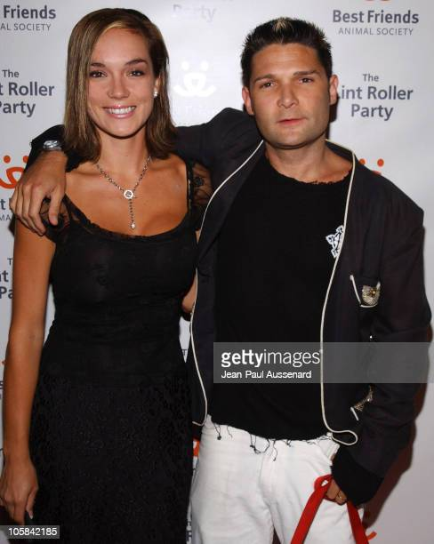 Corey Feldman and wife Susie Sprague during The Lint Roller Party Arrivals at Smashbox Studios in Culver City California United States
