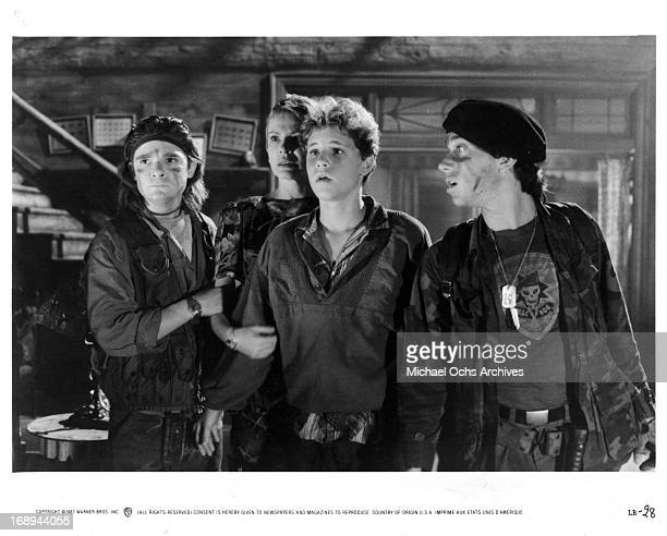 Corey Feldman Dianne Wiest Corey Haim and Jamison Newlander in a scene from the film 'The Lost Boys' 1987