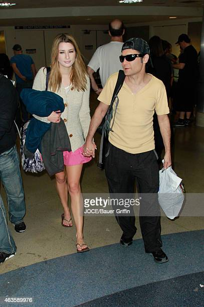 Corey Feldman is seen at LAX on February 15 2015 in Los Angeles California
