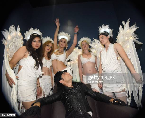 Corey Feldman sits for a portrait backstage with his band Corey's Angels