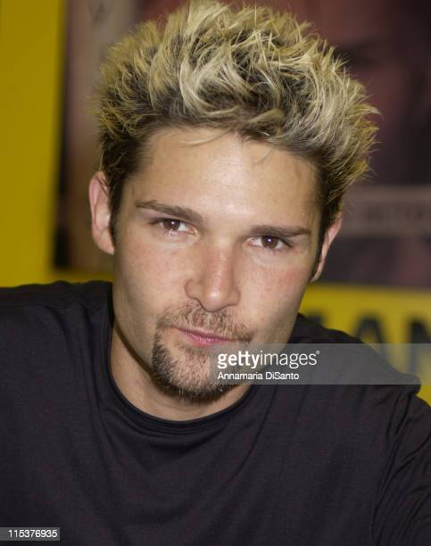 Corey Feldman's record release signing during Corey Feldman Record Release Concert at Tower Records in Los Angeles California United States