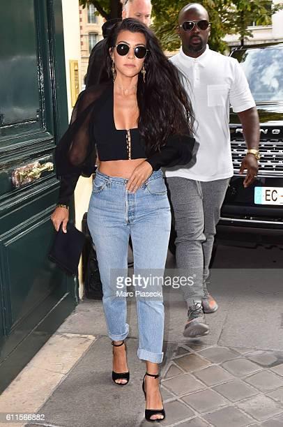 Corey Gamble and Kourtney Kardashian are seen on September 30 2016 in Paris France
