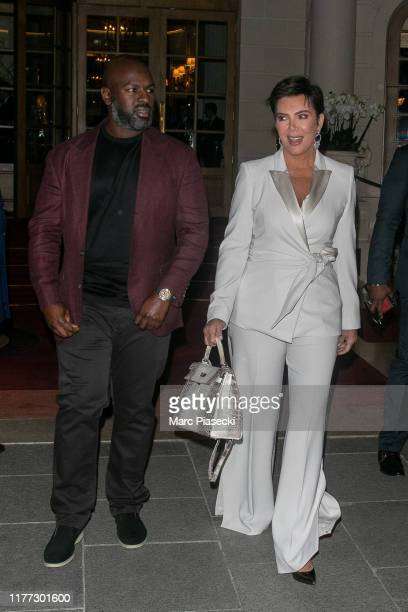 Corey Gamble and Kris Jenner are seen on September 26, 2019 in Paris, France.