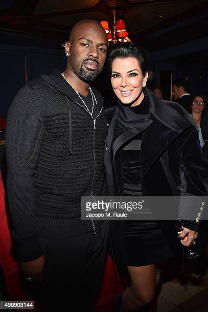 Corey Gamble and Kris Jenner attend Balmain aftershow party as part of Paris Fashion Week Womenswear Spring/Summer 2016 at Laperouse on October 1...