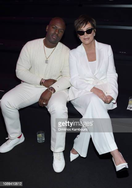 Corey Gamble and Kris Jenner attend the 2018 Victoria's Secret Fashion Show in New York at Pier 94 on November 8 2018 in New York City