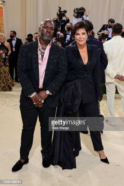 Corey Gamble and Kris Jenner attend The 2021 Met Gala Celebrating In America: A Lexicon Of Fashion at Metropolitan Museum of Art on September 13,...