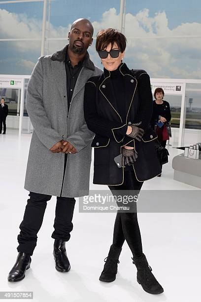 Corey Gamble and Kris Jenner attend the Chanel show as part of the Paris Fashion Week Womenswear Spring/Summer 2016 on October 6 2015 in Paris France
