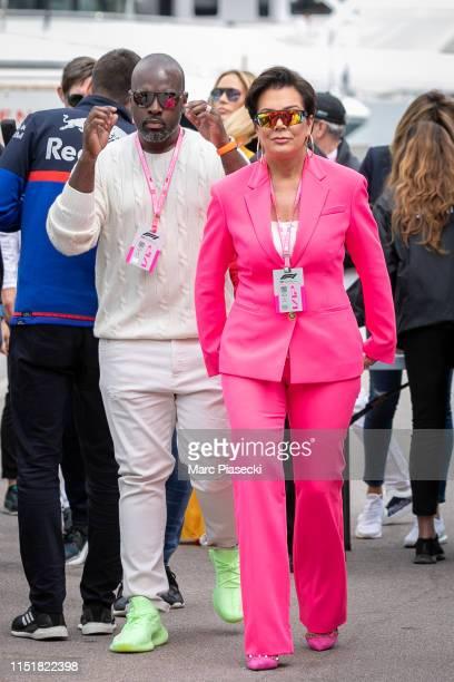 Corey Gamble and Kris Jenner attend the F1 Grand Prix of Monaco on May 26 2019 in MonteCarlo Monaco