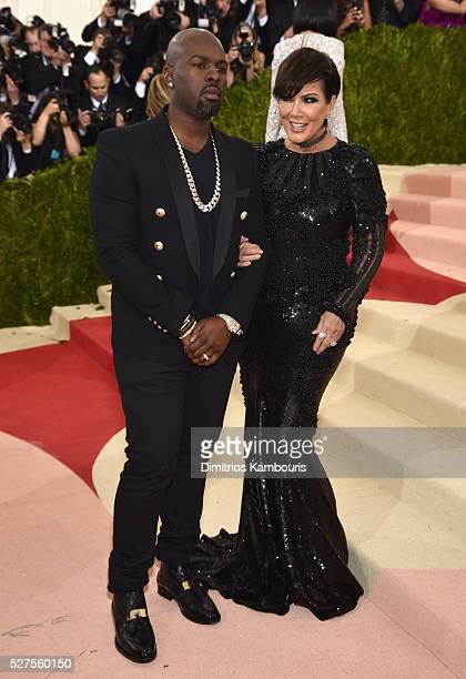 Corey Gamble and Kris Jenner attend the Manus x Machina Fashion In An Age Of Technology Costume Institute Gala at Metropolitan Museum of Art on May 2...