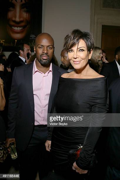Corey Gamble and Kris Jenner attend Vogue 95th Anniversary Party on October 3 2015 in Paris France