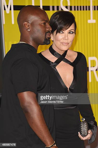 Corey Gamble and TV personality Kris Jenner attend the 2015 MTV Video Music Awards at Microsoft Theater on August 30 2015 in Los Angeles California