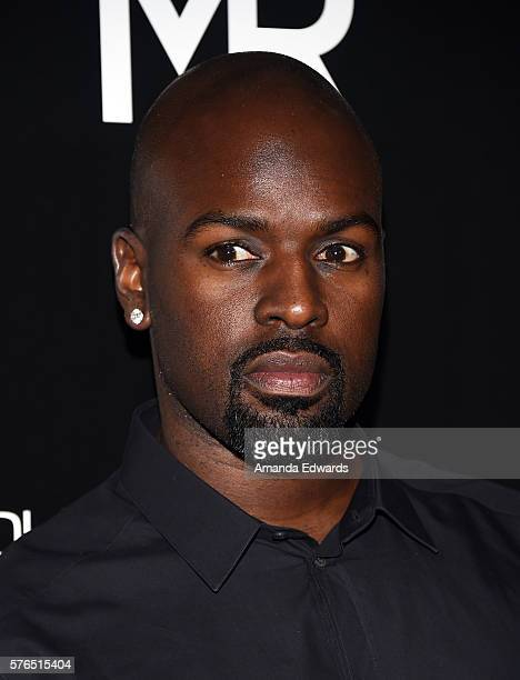 Corey Gamble arrives at the launch of OUE Skyspace LA at the US Bank Tower on July 14 2016 in Los Angeles California