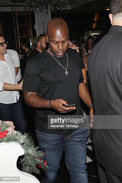 Corey Gamble is seen during Art Week Party at Sugar Factory American Brasserie on December 8 2017 in Miami Florida
