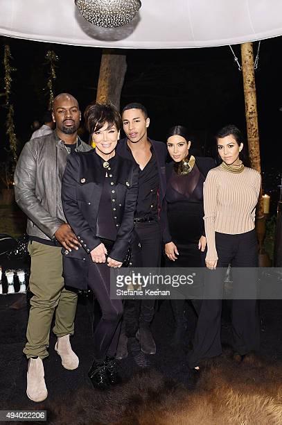 Corey Gamble Kris Jenner Olivier Rousteing Kim Kardashian West and Kourtney Kardashian attend Olivier Rousteing Beats Celebrate In Los Angeles at...