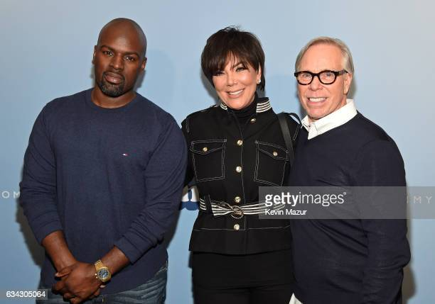 Corey Gamble tv personality Kris Jenner and fashion designer Tommy Hilfiger attend the TommyLand Tommy Hilfiger Spring 2017 Fashion Show on February...