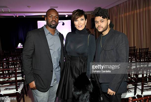 Corey Gamble TV personality Kris Jenner and singer Abel 'The Weeknd' Tesfaye attend The Daily Front Row 'Fashion Los Angeles Awards' 2016 at Sunset...